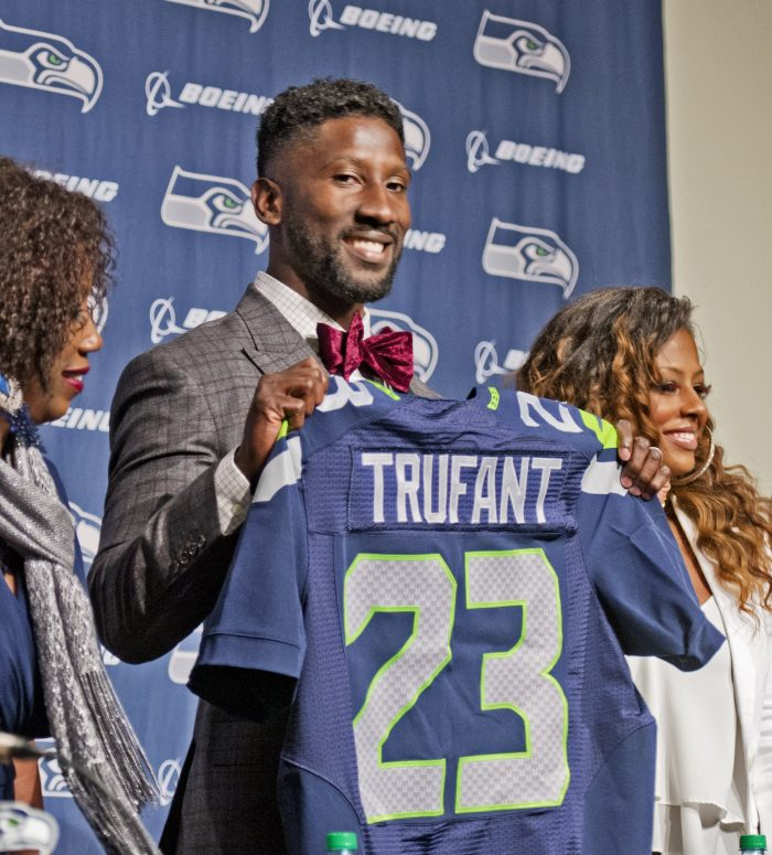 Marcus Trufant accepted a one-day contract with the Seattle Seahawks football team so that he co ...